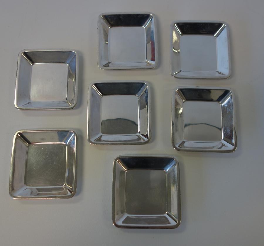 7 Tiffany & Co Sterling Modernist Nut Dish / Trays