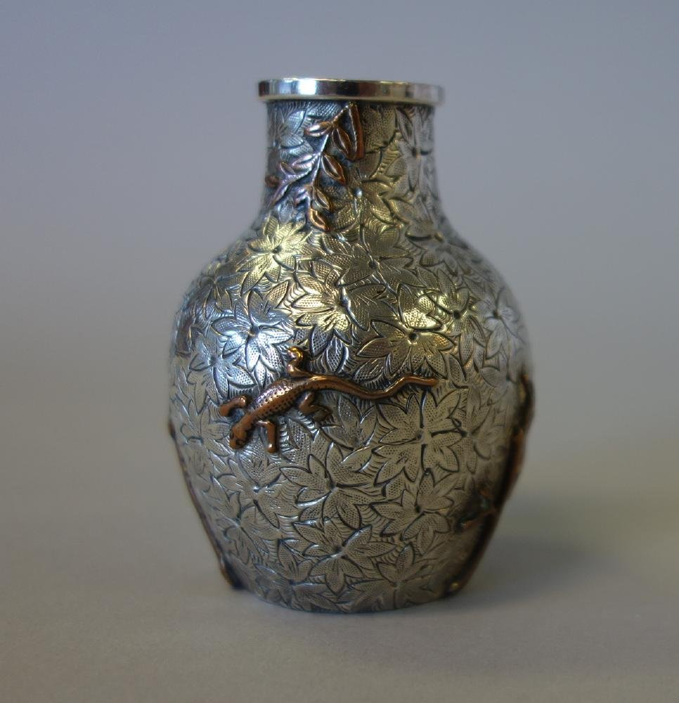 Dominick & Haff Aesthetic Movement Sterling Vase - 2