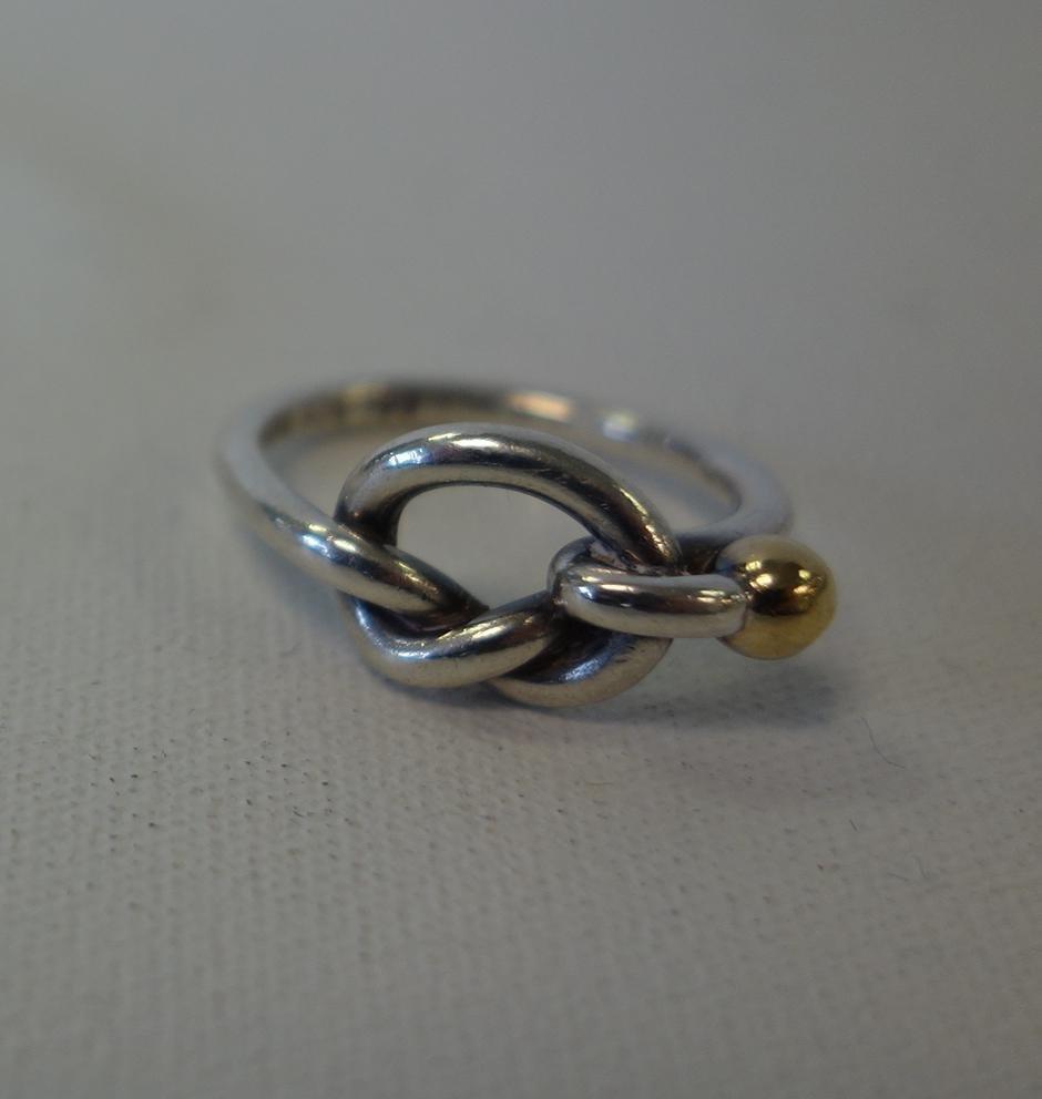Tiffany & Co Sterling & Gold Knot Bracelet & Ring - 3