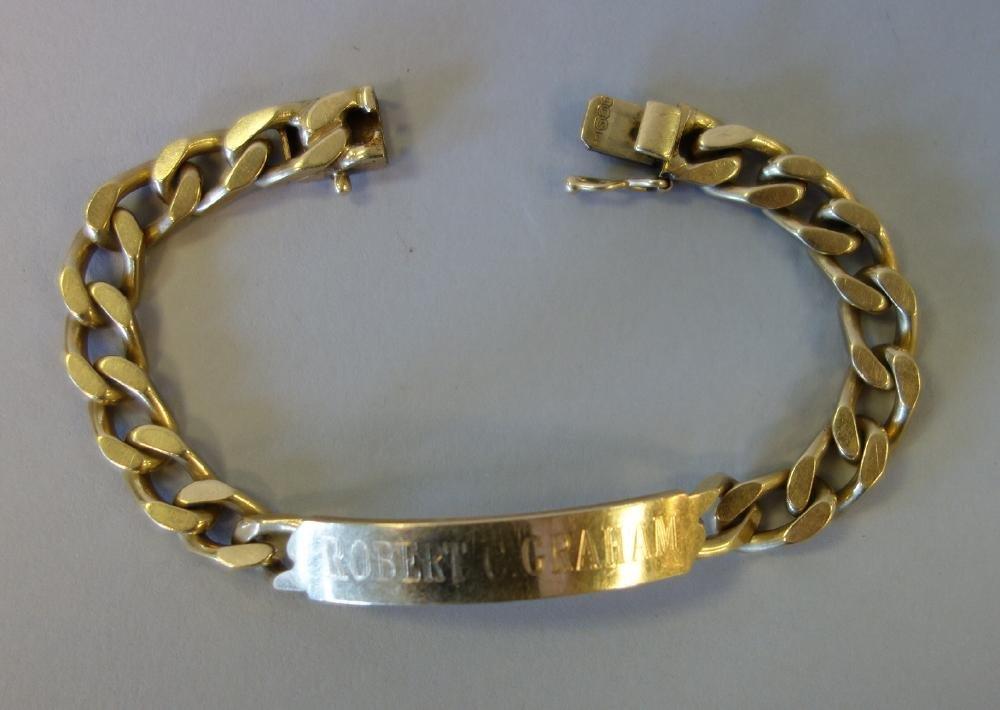 14K Gold Identification ID Bracelet