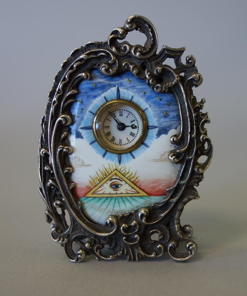Eye of Providence Masonic Clock, H & E Rossel