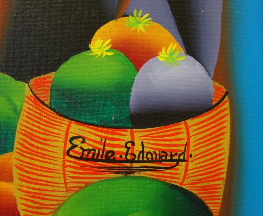 Haitian Oil on Canvas, Emile Edouard - 2