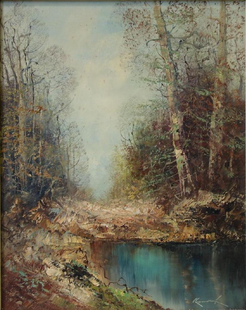 Kort (German b-1928) Lake Landscape