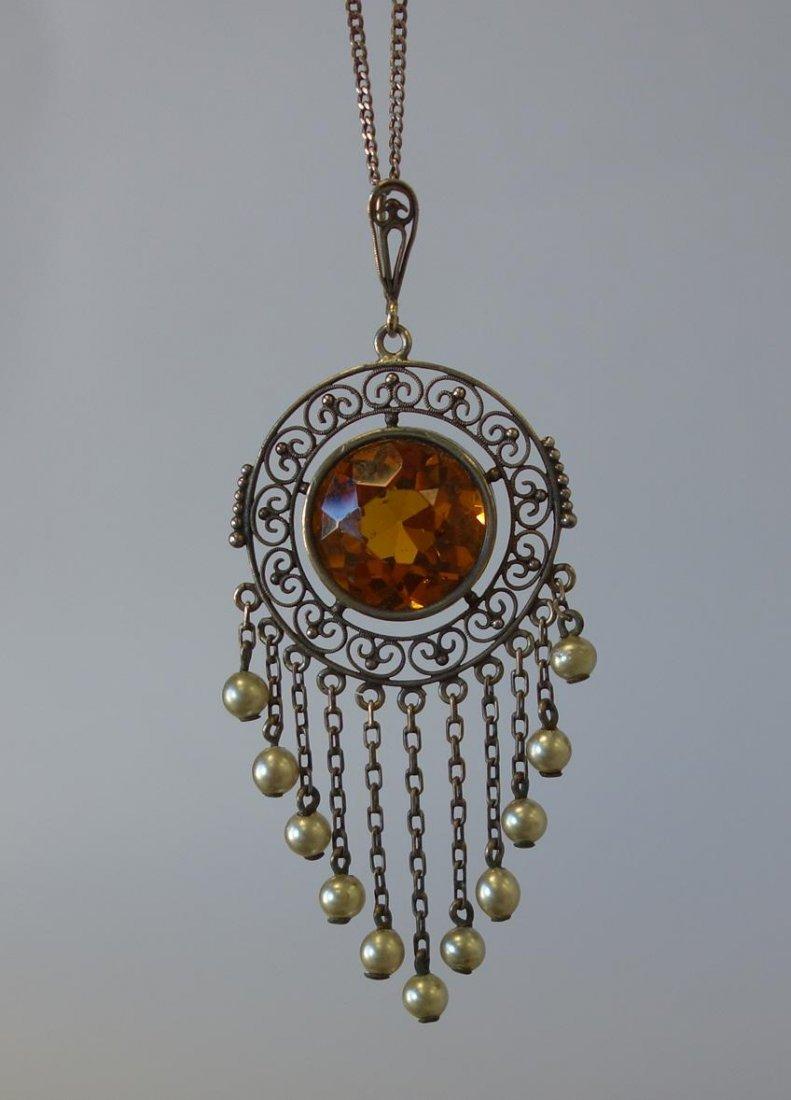 Victorian Filigree Necklace / Pendant