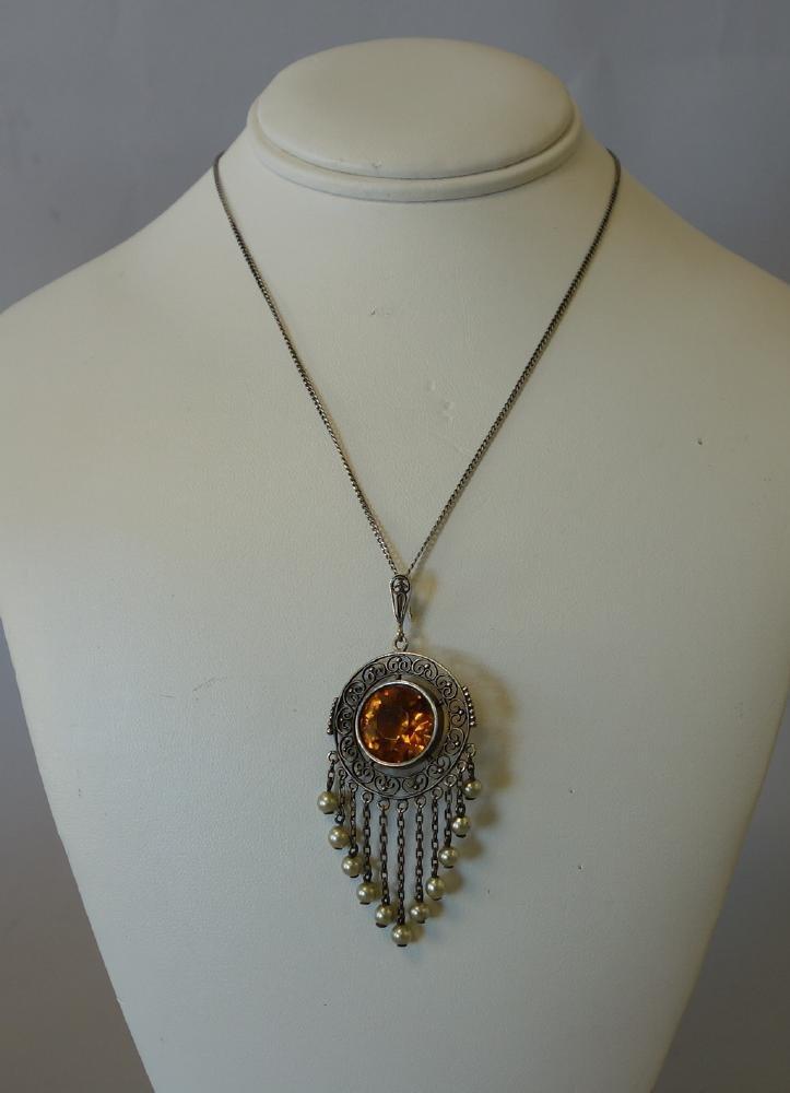 Victorian Filigree Necklace / Pendant - 2