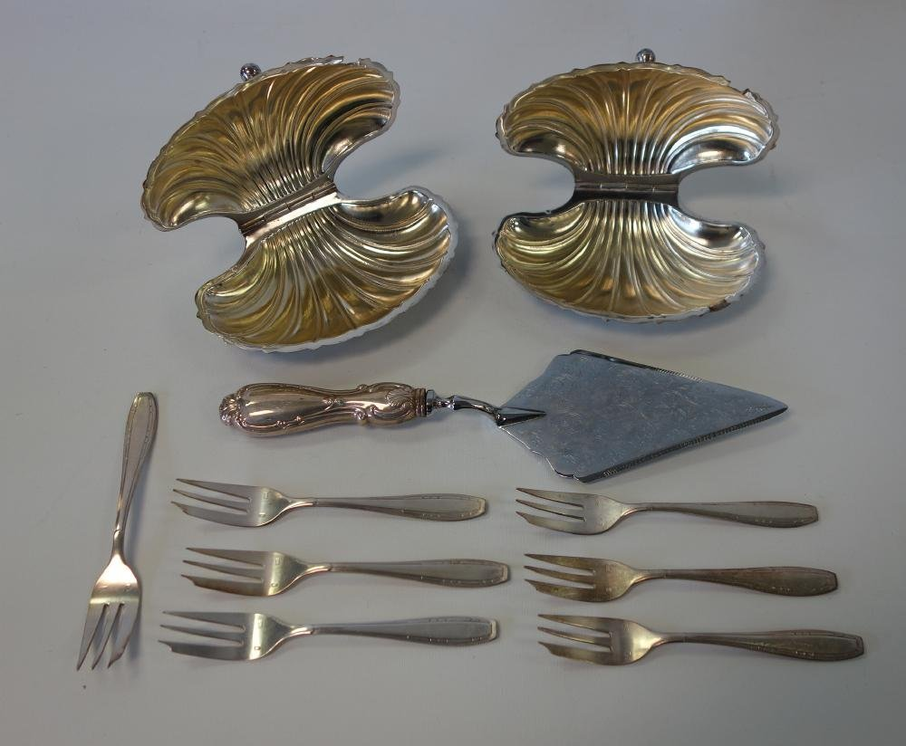French Sardine Dishes + Sterling & Silverplate