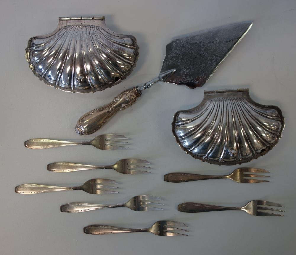 French Sardine Dishes + Sterling & Silverplate - 2
