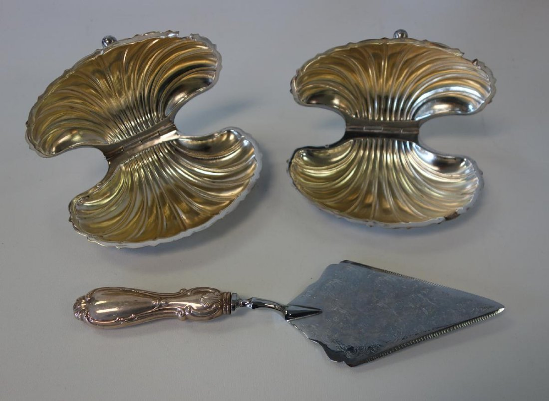 French Sardine Dishes + Sterling & Silverplate - 3