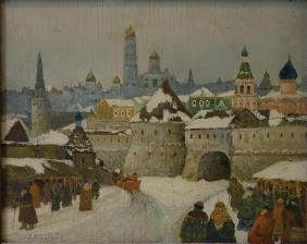 Boris Bogoljubow (Russia b-1878) Moscow Winter