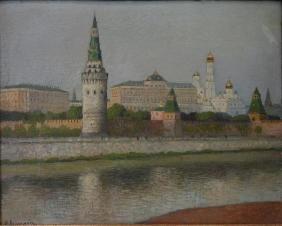 Boris Bogoljubow (Russia b-1878) Kremlin Moscow