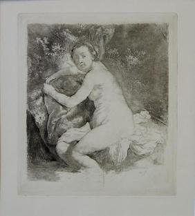 Armand Durand Etching Diana at the Bath, Rembrandt
