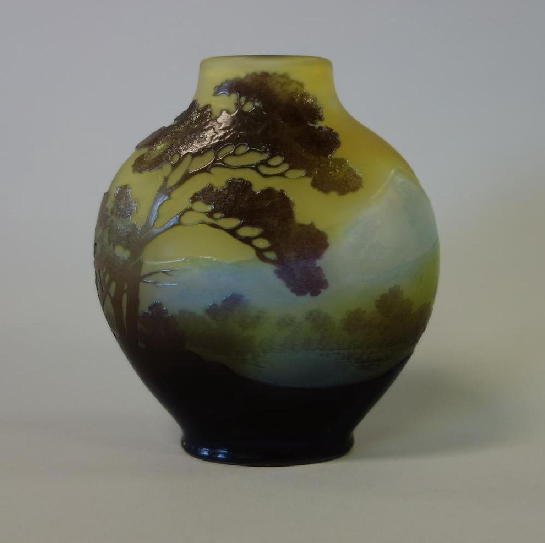 Emile Galle French Cameo Glass Scenic Vase