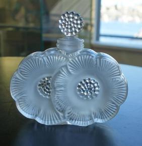 Lalique Crystal Deux Fleurs Perfume Bottle