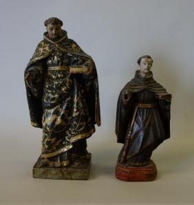 2-18th/ 19thc Santos Figures, St Anthony of Padua
