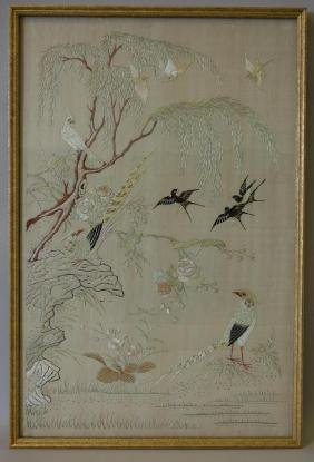 Chinese Embroidered Needlework Picture