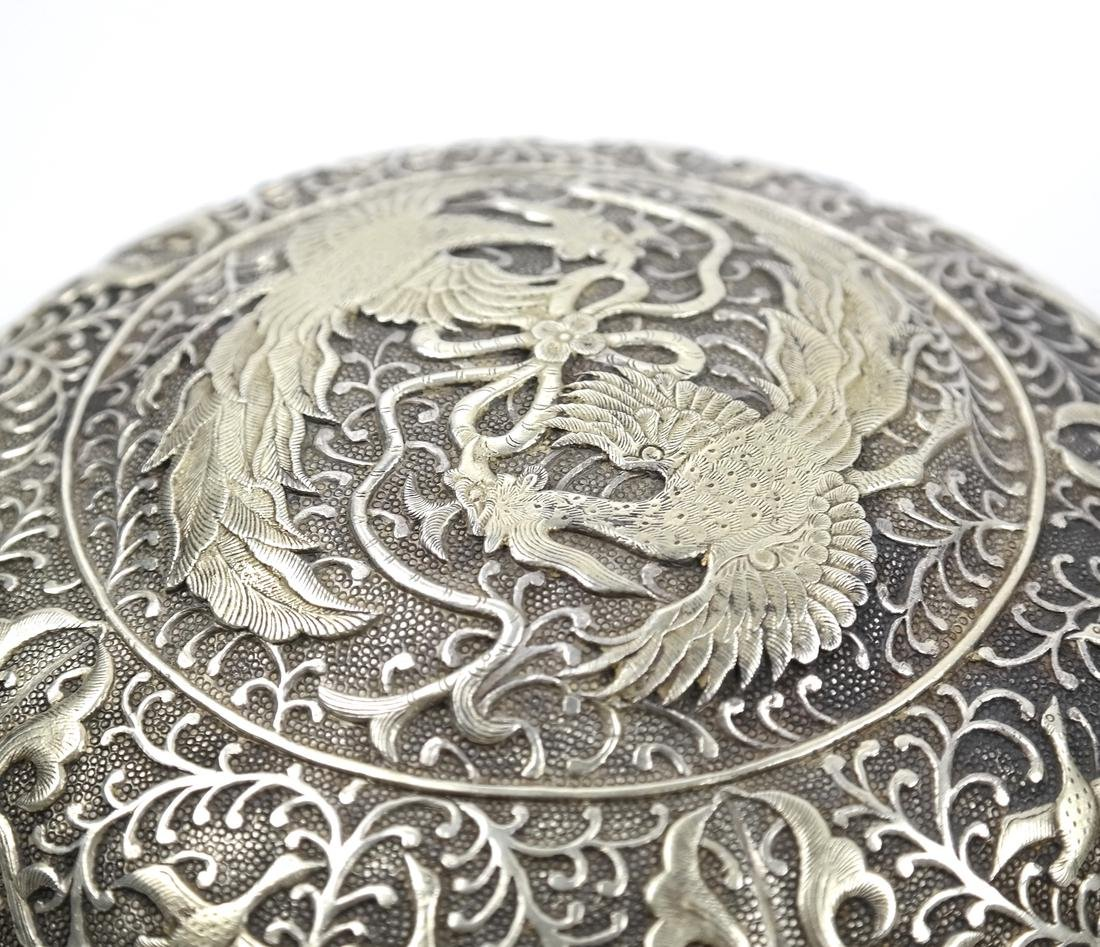 ASIAN LARGE PARCEL-GILT SILVER STEM BOX AND COVER - 5