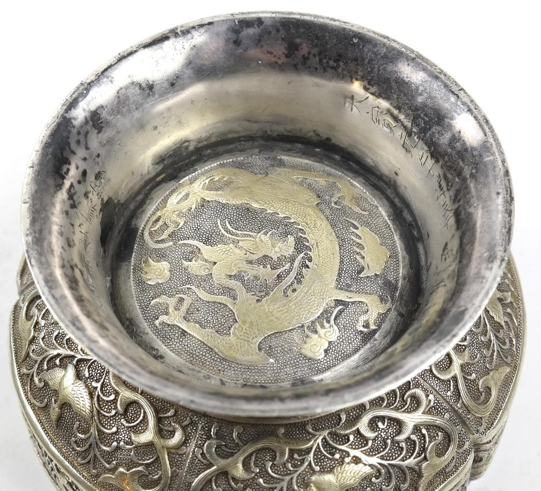 ASIAN LARGE PARCEL-GILT SILVER STEM BOX AND COVER - 7
