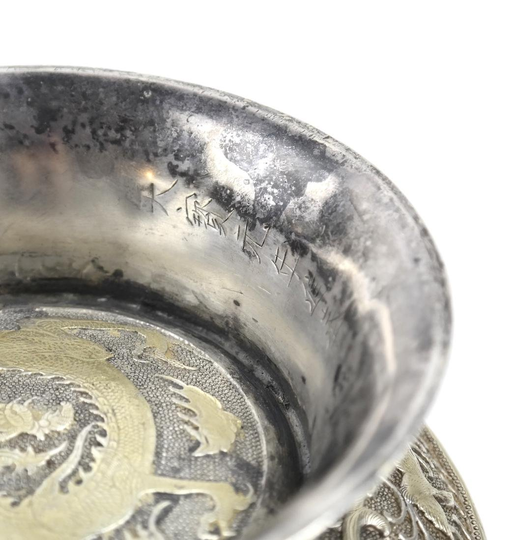 ASIAN LARGE PARCEL-GILT SILVER STEM BOX AND COVER - 8