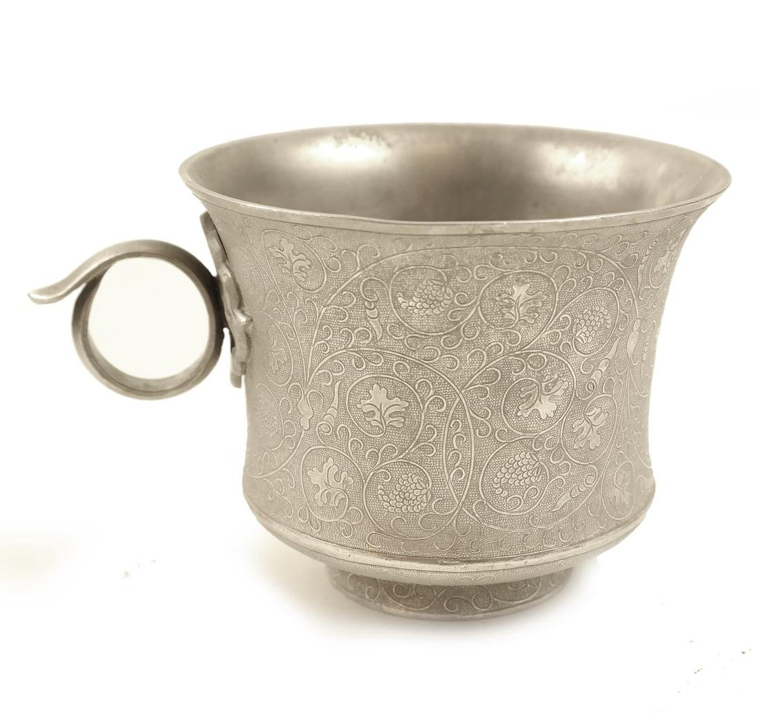 A PAIR OF SMALL SILVER WAISTED CUPS - 3