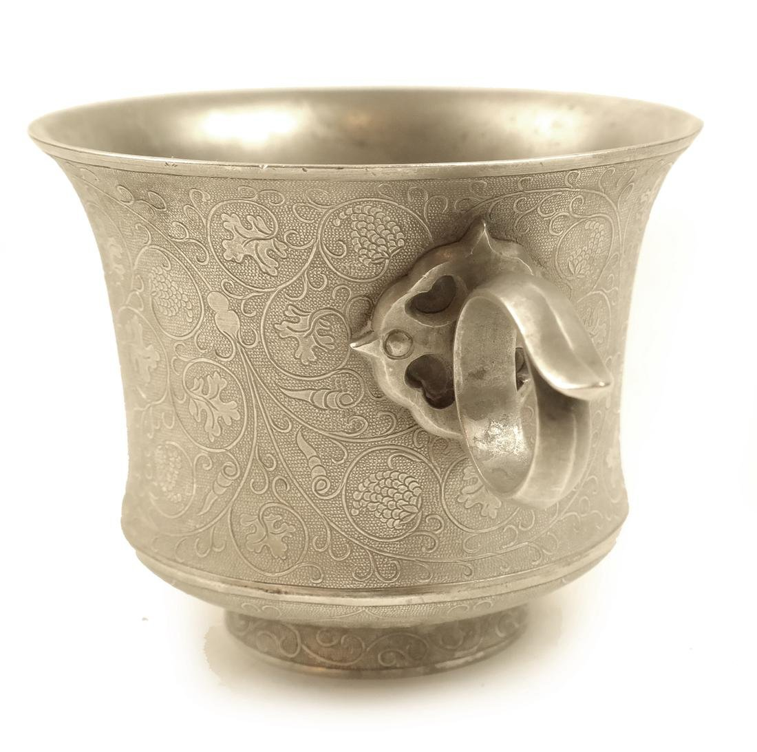 A PAIR OF SMALL SILVER WAISTED CUPS - 5