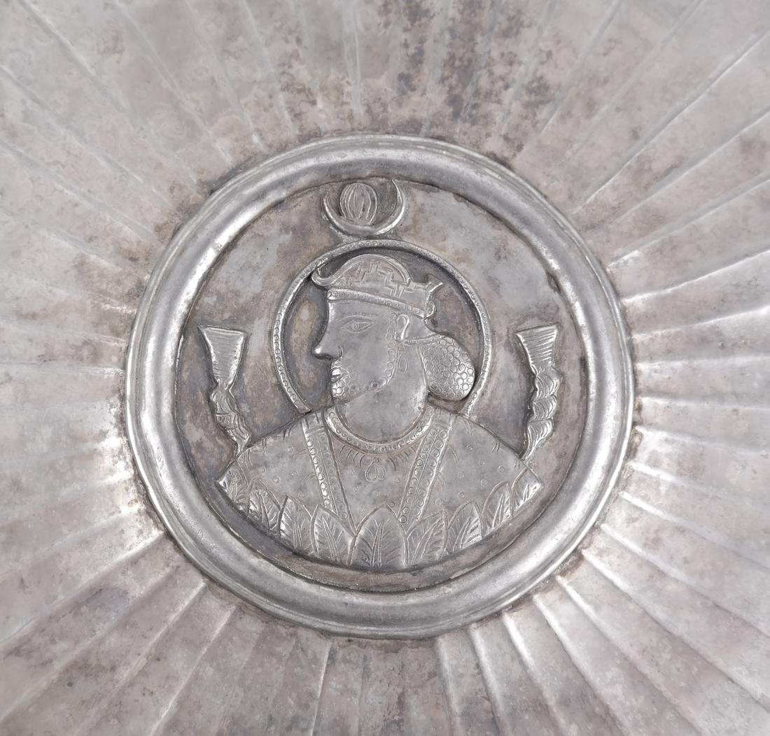 A SASANIAN STYLE SILVER PLATE - 4