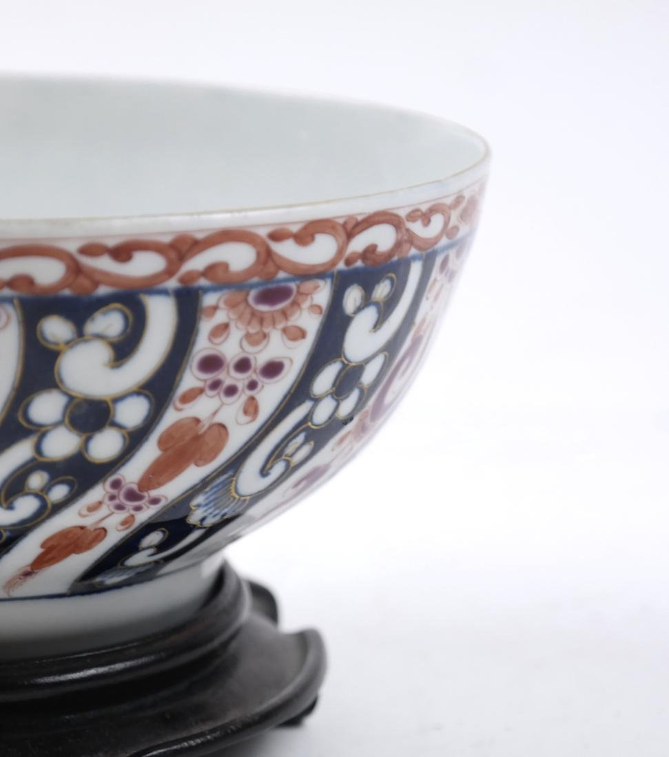 A WHITE AND RED-GLAZED BOWL 20TH CENTURY - 3