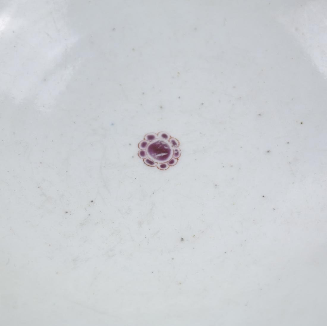 A WHITE AND RED-GLAZED BOWL 20TH CENTURY - 7
