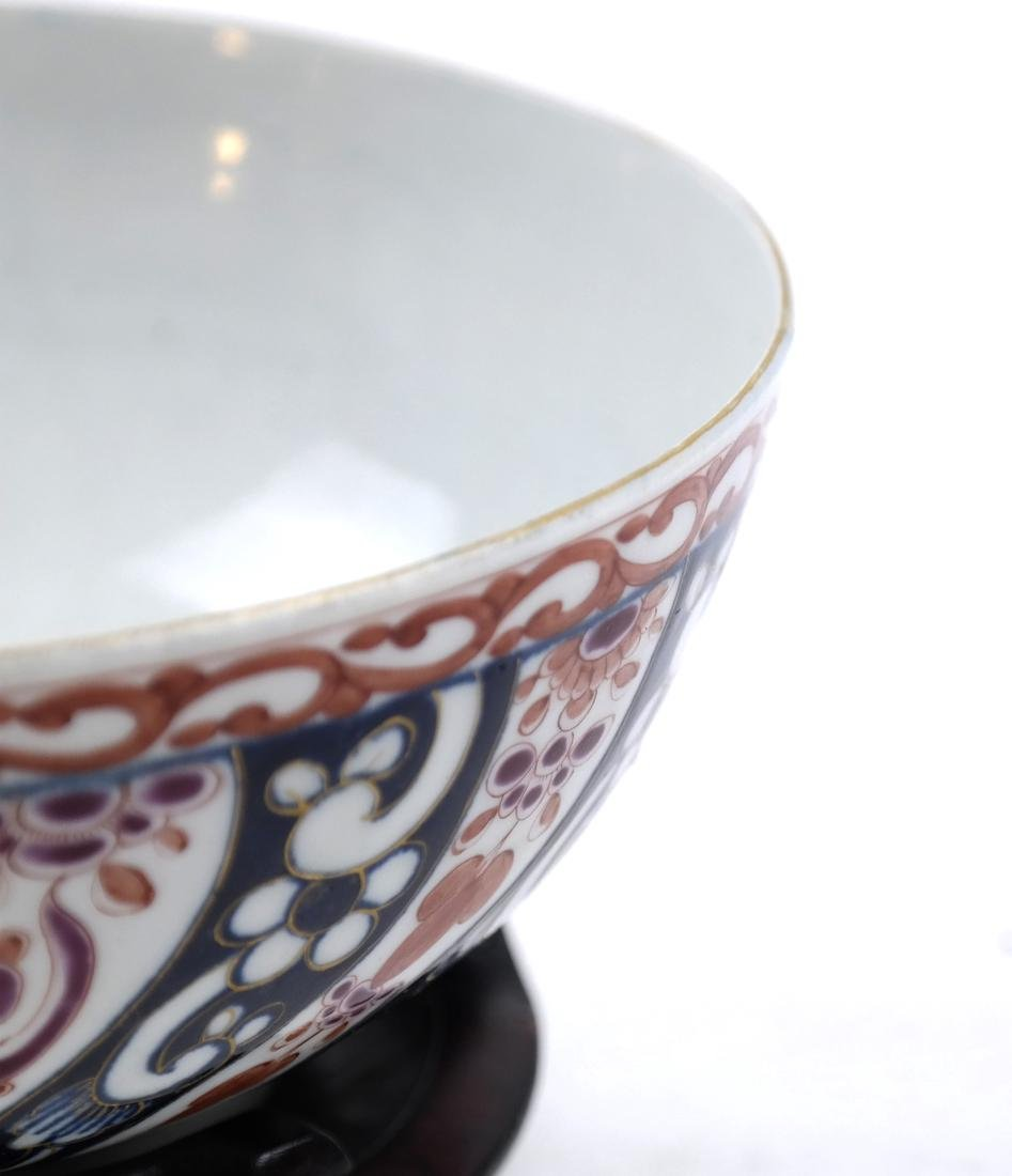 A WHITE AND RED-GLAZED BOWL 20TH CENTURY - 8