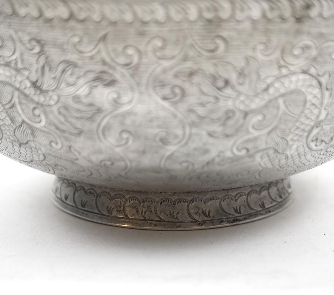 AN ENGRAVED SILVER BOWL, POSSIBLY ASIAN - 4