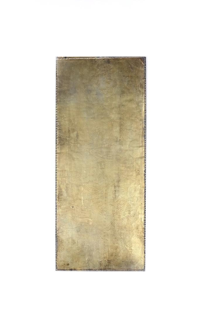 5 ASIAN GILT-SILVER RECTANGULAR MANUSCRIPT SHEETS - 5