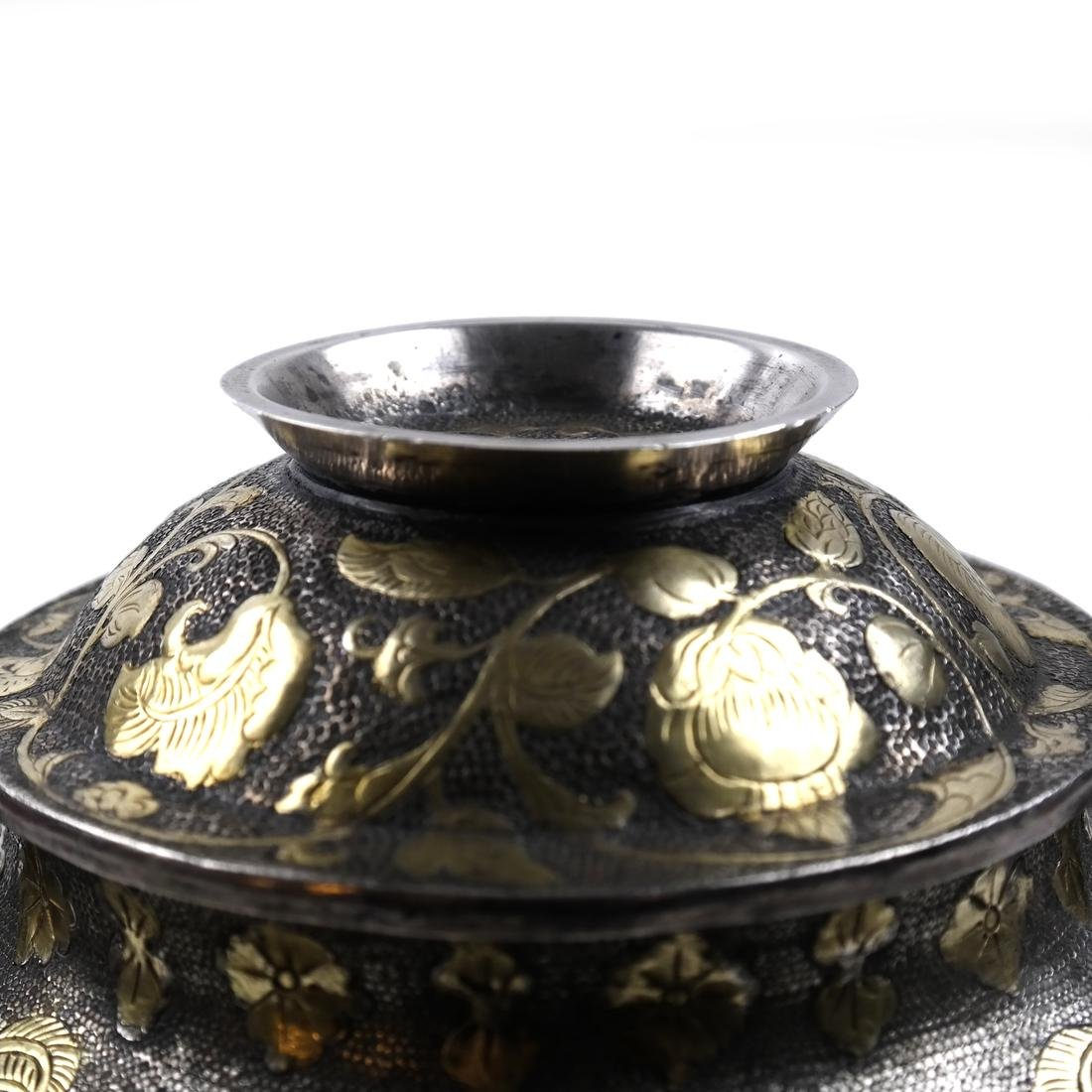AN ASIAN LARGE PARCEL-GILT SILVER GLOBULAR VESSEL AND - 6