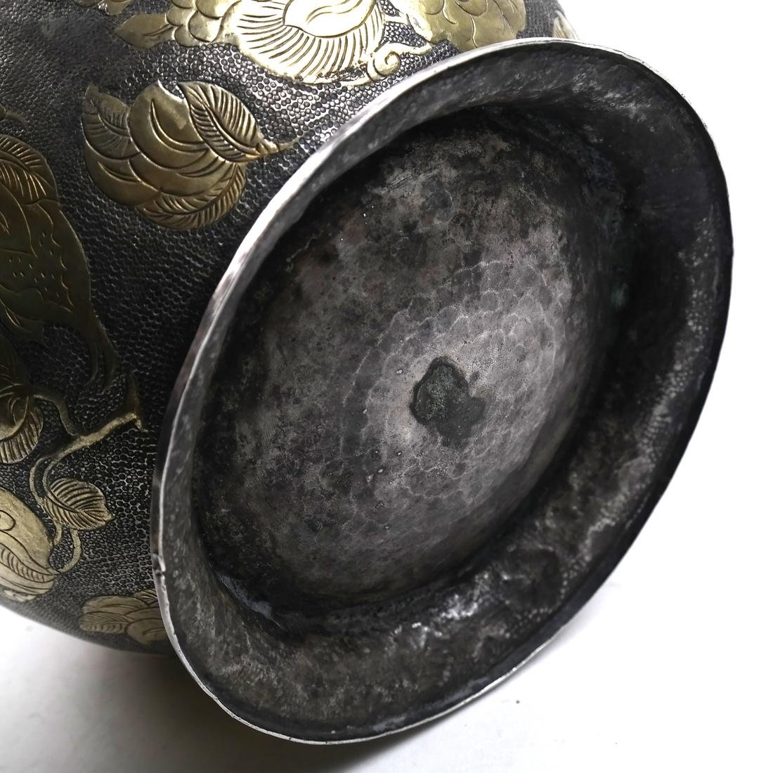 AN ASIAN LARGE PARCEL-GILT SILVER GLOBULAR VESSEL AND - 9