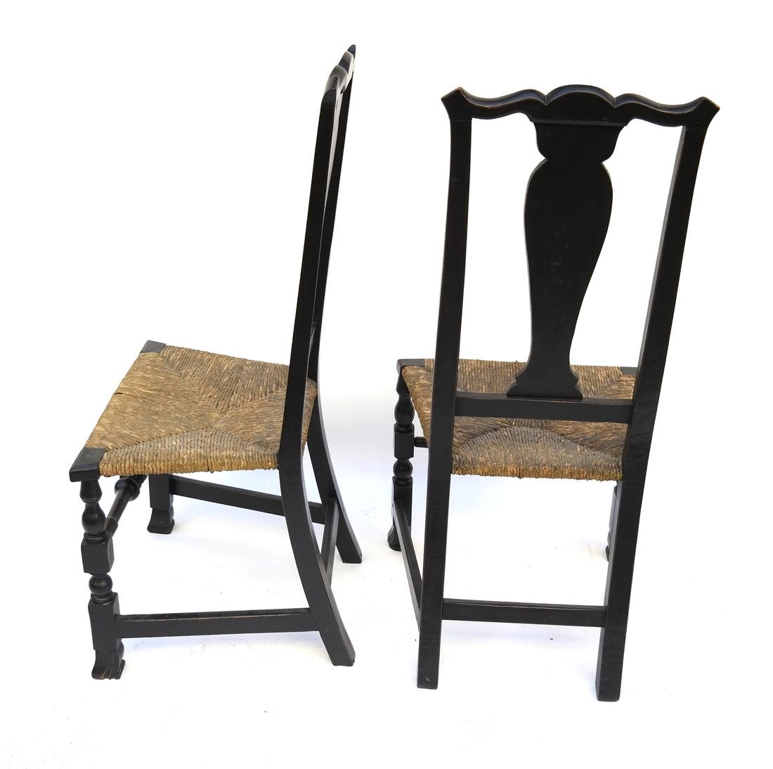 A PAIR OF QUEEN ANNE RUSH-SEAT SIDE CHAIRS, 1730-1750 - 6