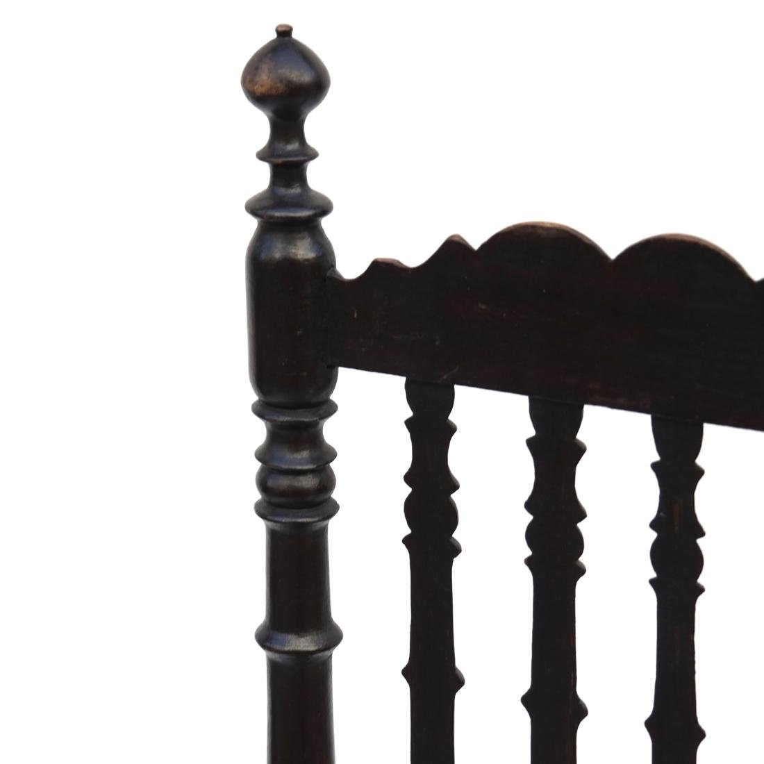 BLACK-PAINTED BANNISTER-BACK SIDE CHAIR, 18TH C - 4