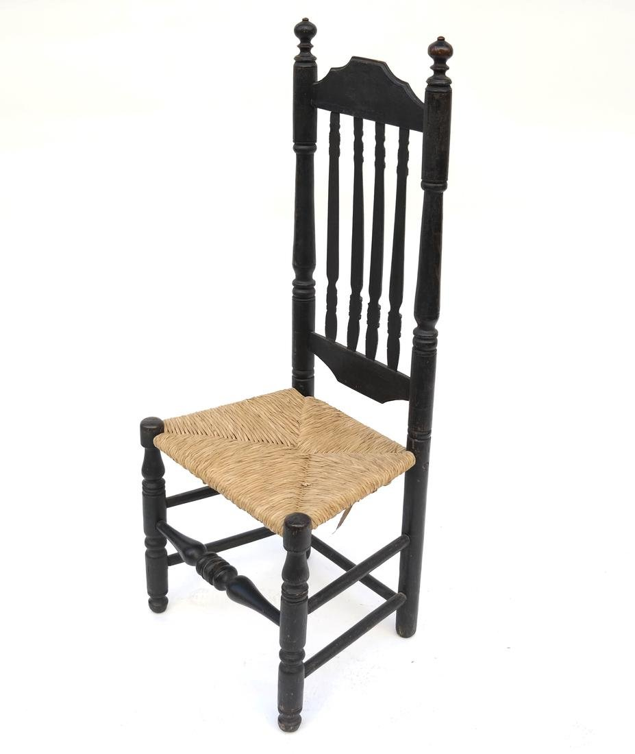 MAPLE BANNISTER-BACK SIDE CHAIR NEW ENGLAND, 18th C.