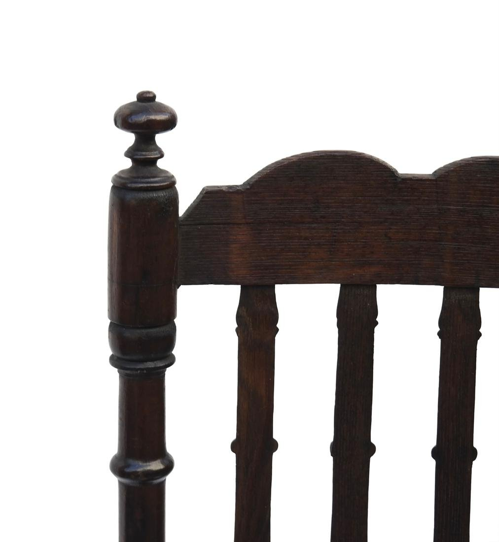 WILLIAM & MARY BANNISTER-BACK RUSH-SEAT CHAIR, 18TH C. - 4