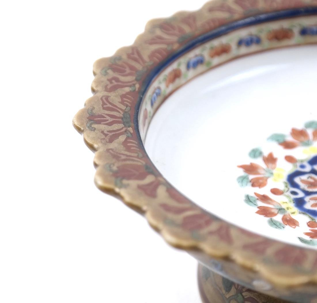 AN ENAMELED&GILT-DECORATED BENCHERONG STEM DISH - 4