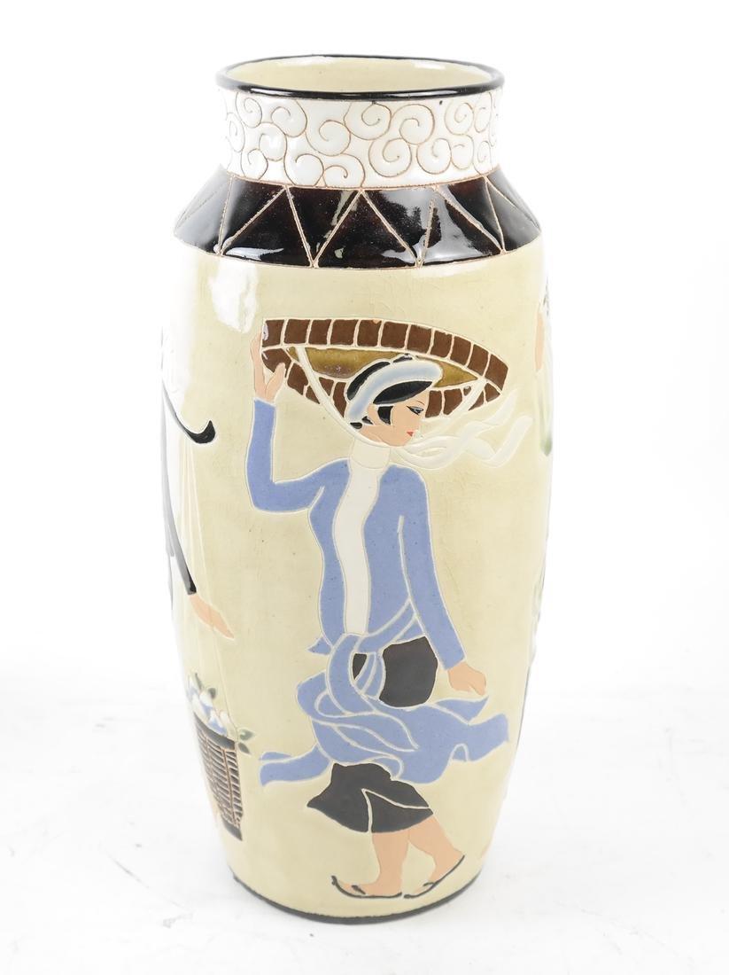 Vietnam Vietnamese Dona Vase Art Pottery