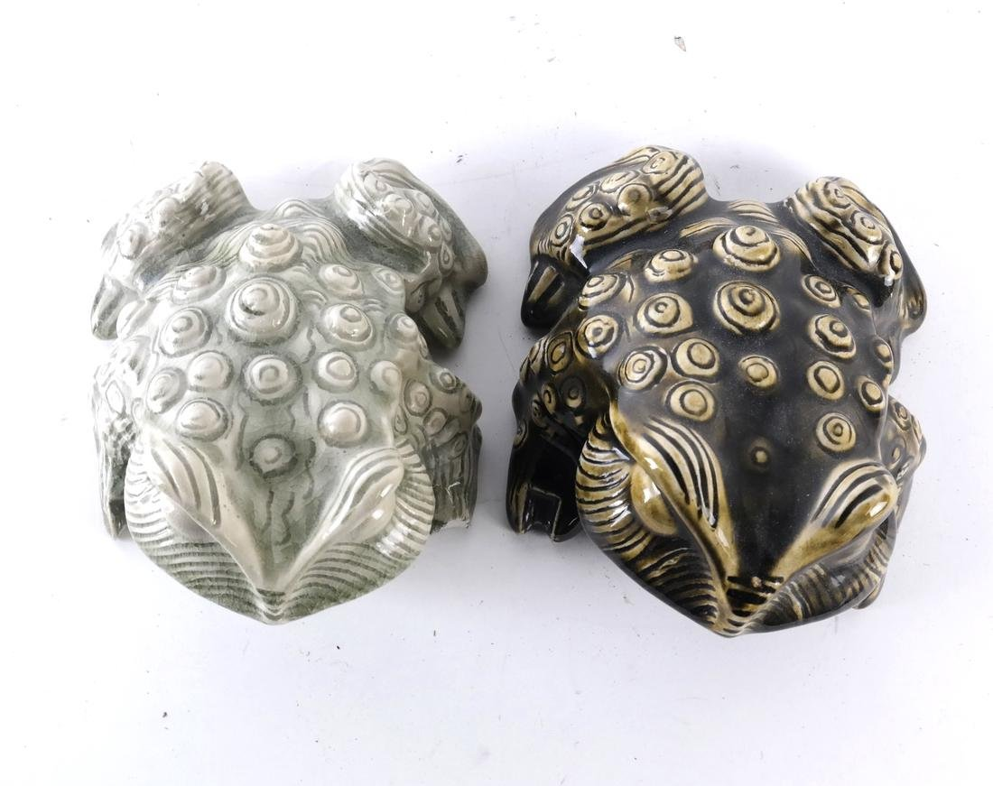 Two Ceramic Decorated Frogs - 2