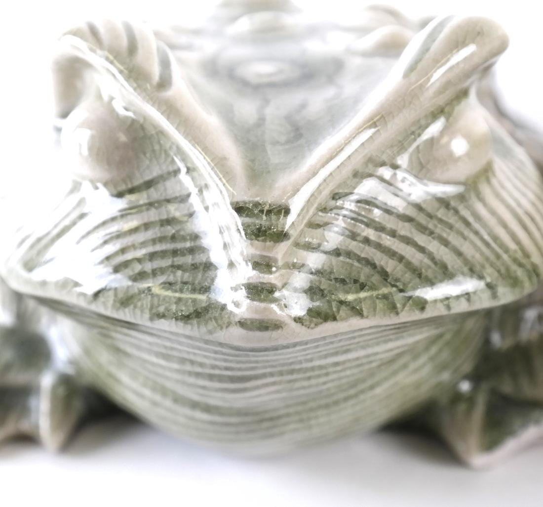 Two Ceramic Decorated Frogs - 3