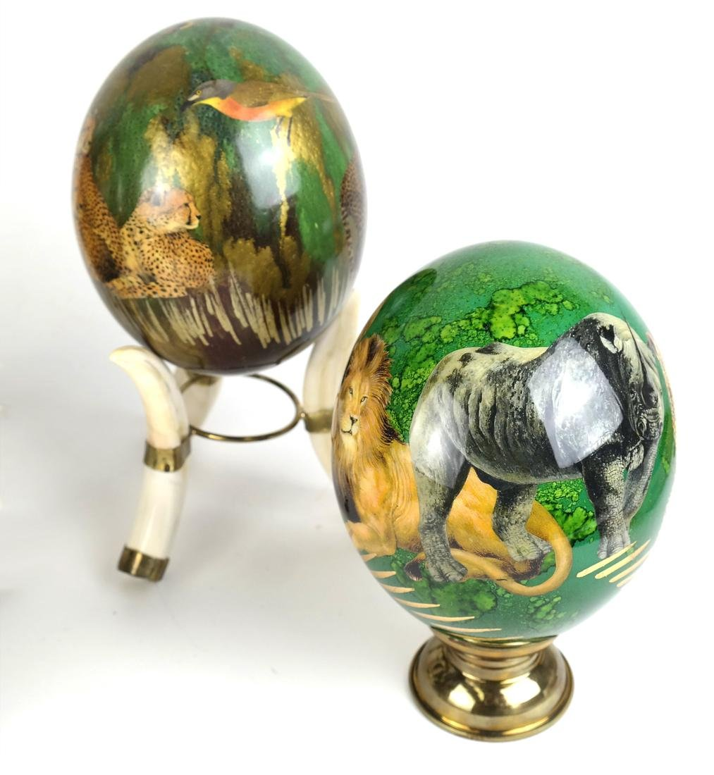 Four Decorated Lacquer Eggs - 3