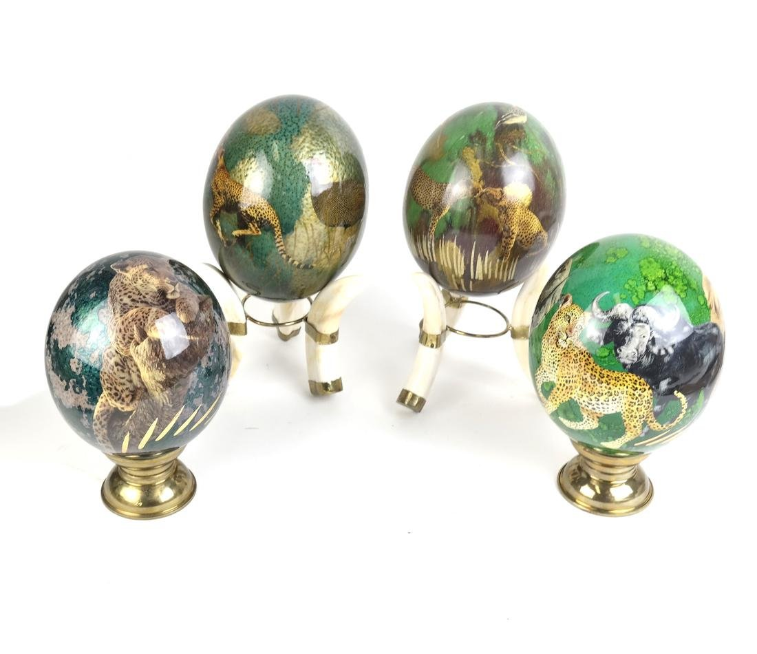 Four Decorated Lacquer Eggs - 4