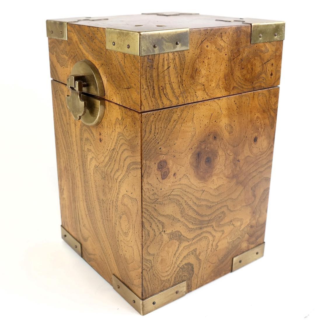 Burl Walnut Hinged Box