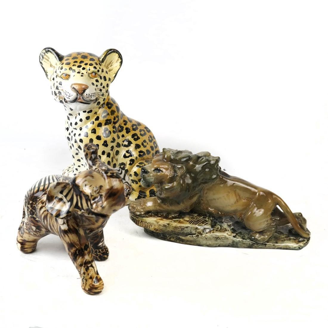Three Ceramic Animals