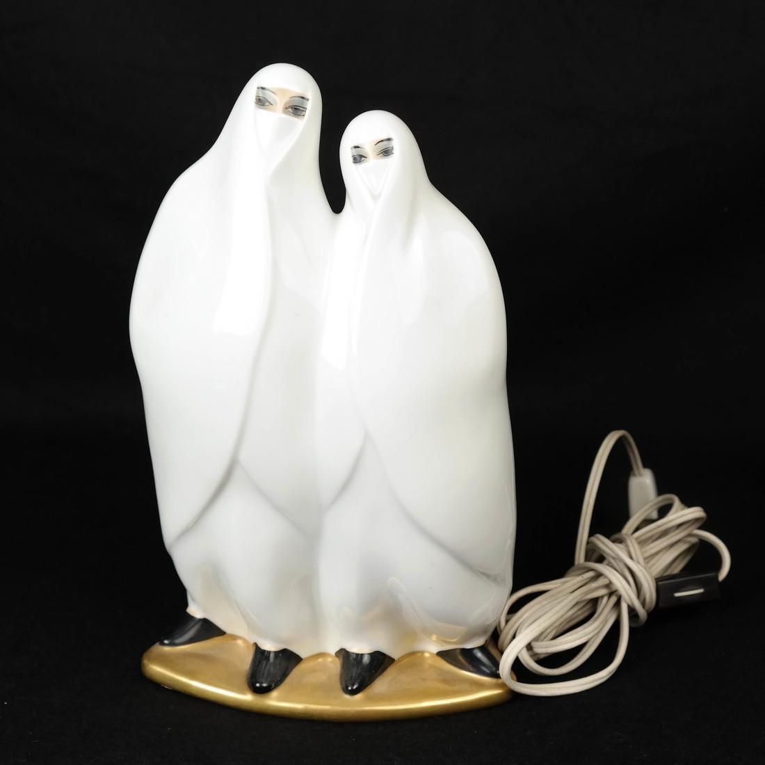 Limoges Figural Lamp