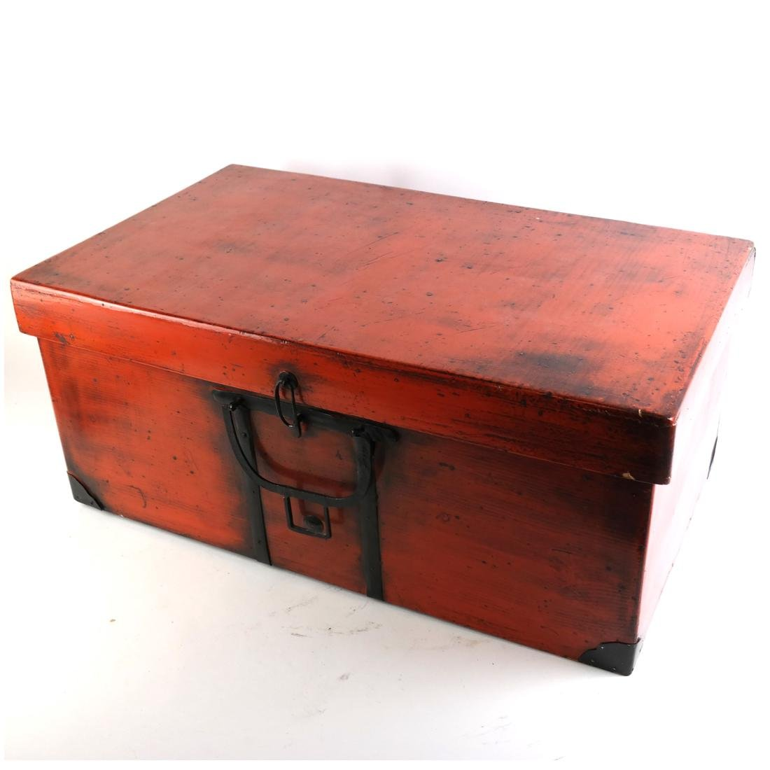 Asian Red Lacquered Box