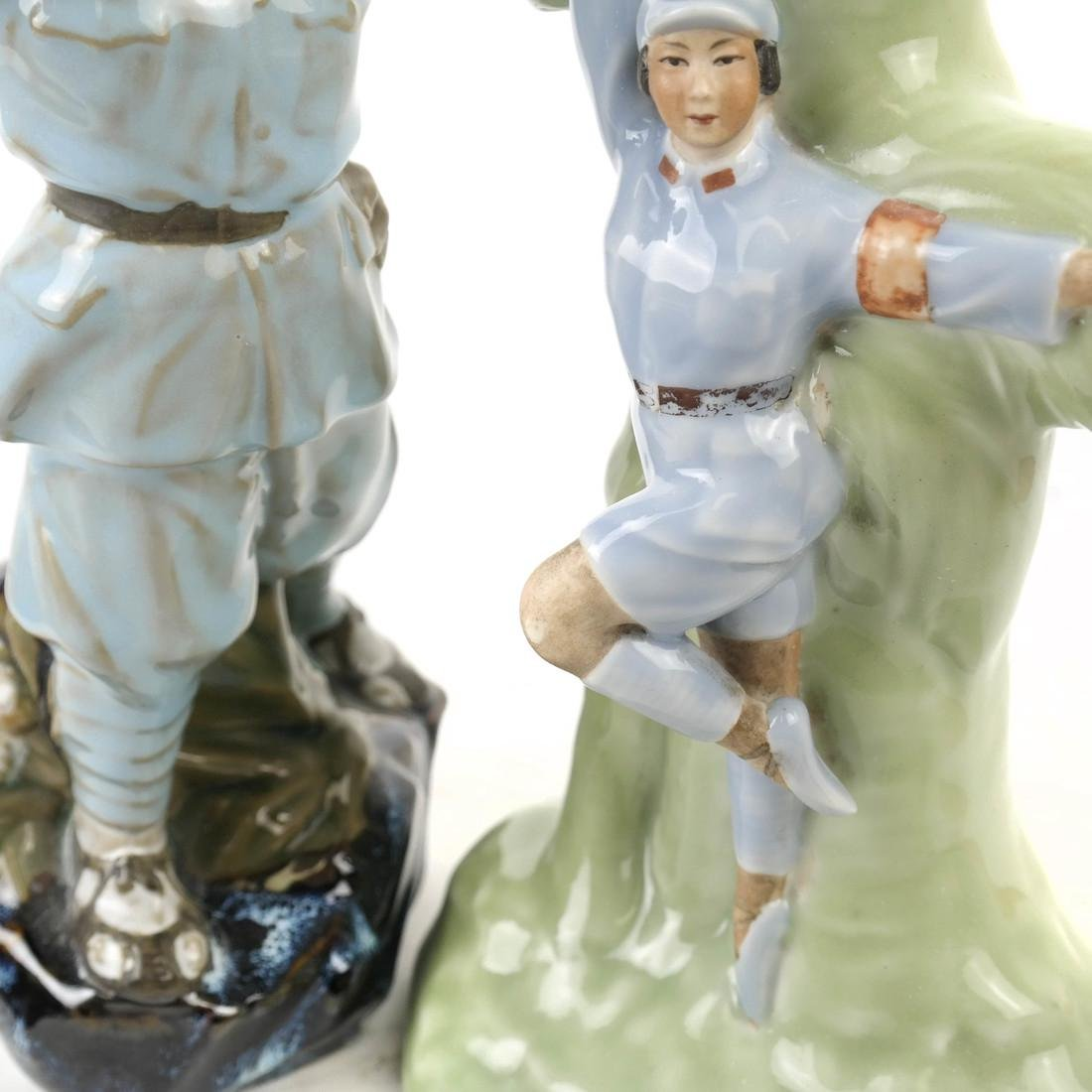 Two Chinese Republic Propaganda Sculptures: Soldiers - 3