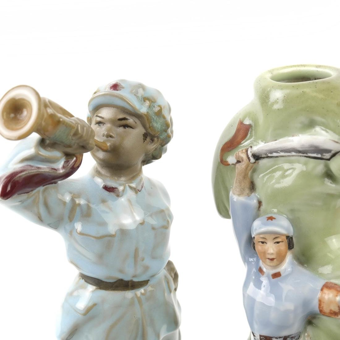 Two Chinese Republic Propaganda Sculptures: Soldiers - 4