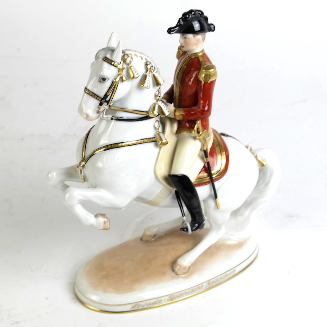 Austrian Vienna Ceramic Horse and Rider