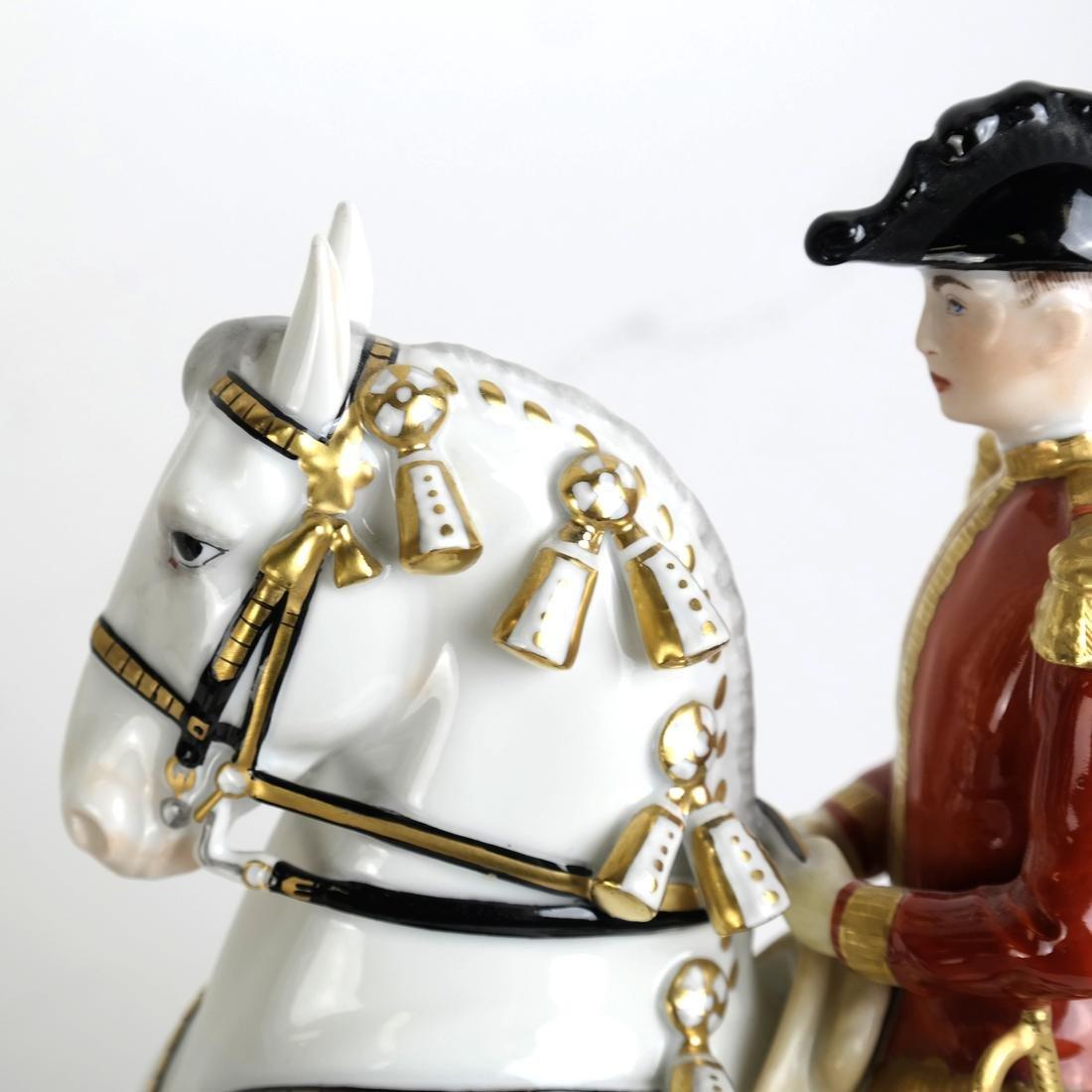 Austrian Vienna Ceramic Horse and Rider - 5